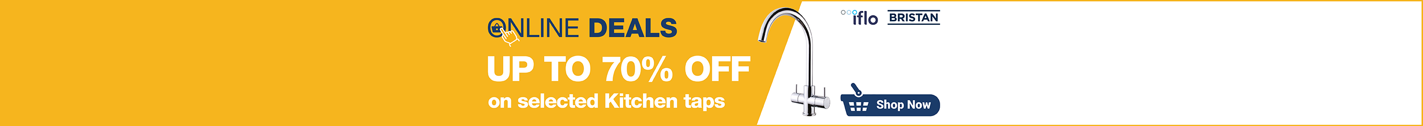 Up to 70% off Kitchen Taps