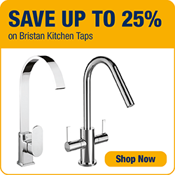 Save up to 25% on Bathrooms Kitchen Taps