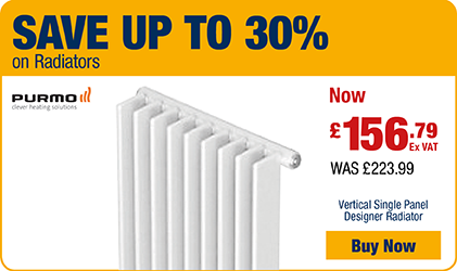 Save up to 30% on Radiators