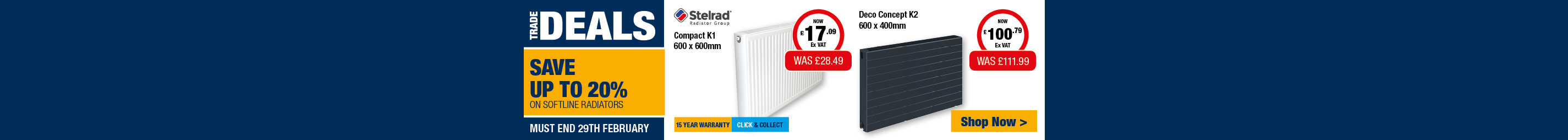 Save up to 20% on Stelrad Softline Radiators