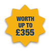 Worth up to £356