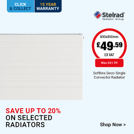 Save up to 20% on Selected Radiators