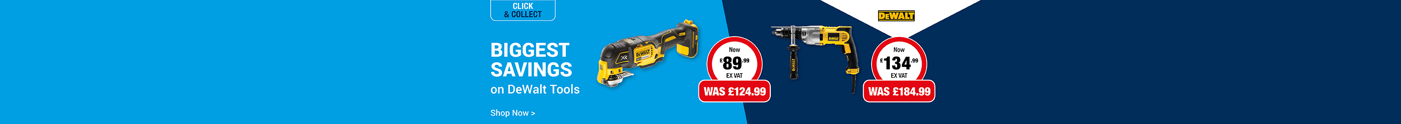 Biggest Savings on DeWalt Tools
