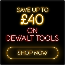Save up to £40 on DeWalt Tools