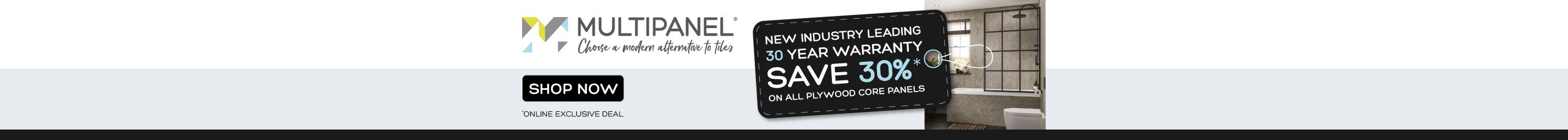 Save 30% on Multipanel