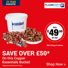 Save over £57 on Plumbright Essentials Copper Fittings Bucket
