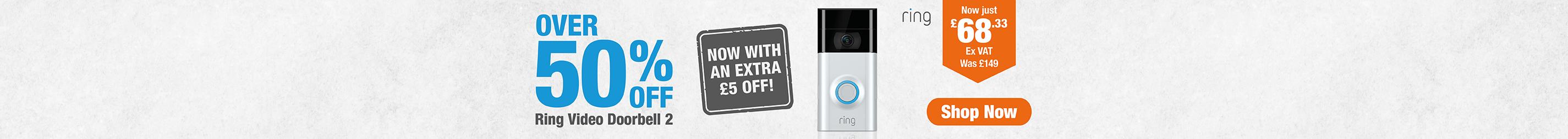 Over 50% off Ring Video Doorbell 2