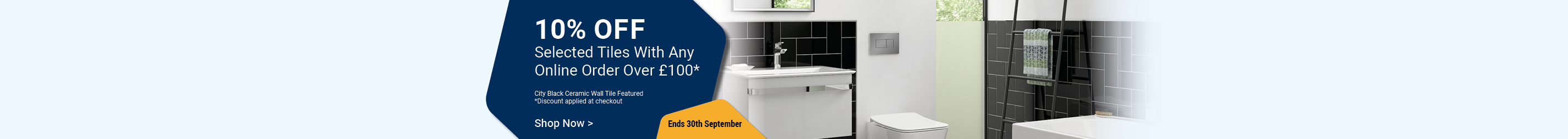 10% off Selected Tiles When You Spend Over £100