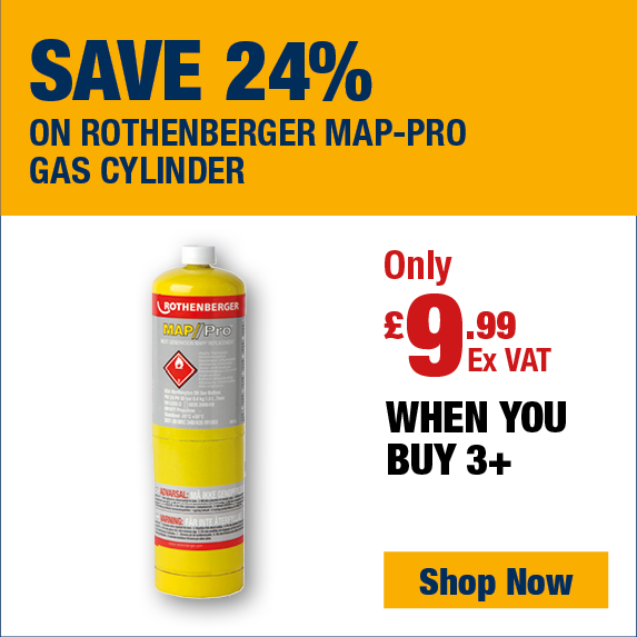 Save 20% on Rothenberger Map-Pro Gas Cylinder