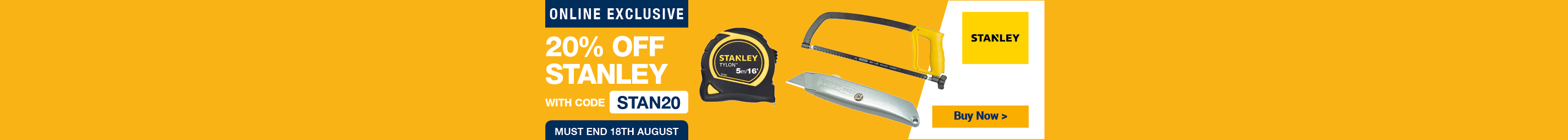20% off Stanley use code STAN20