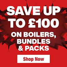 Save up to £100 on Boilers, Bundles & Packsy