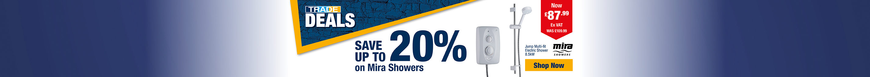 Save Up to 20% on Mira Showers