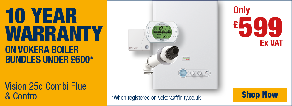 10 Year Warranty on Vokera Boiler Bundles Under £600