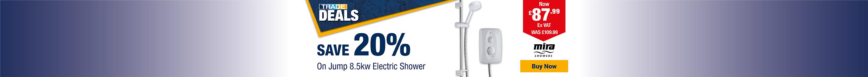Save 20% On Mira Jump Shower
