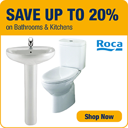 Save up to 20% on Bathrooms and Kitchens