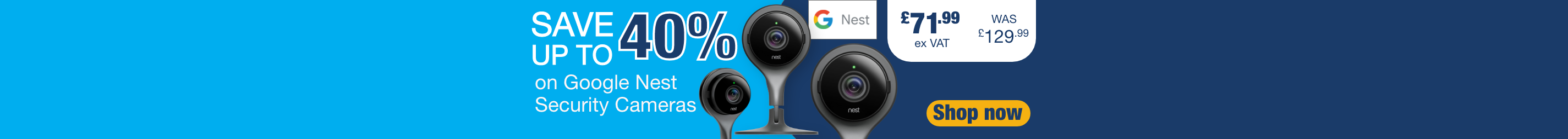 Save up to 40% on Google Nest
