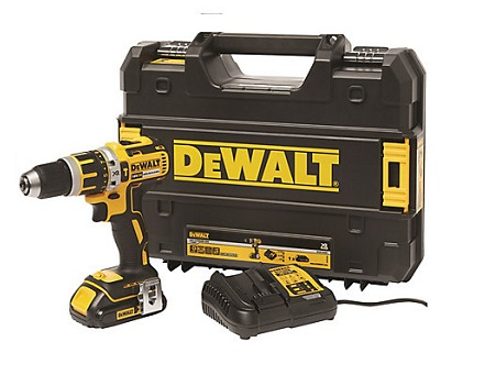 DeWalt 18V XR Brushless Compact Combi Drill with Battery & Case