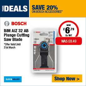 Save 20% on Bosch Accessories