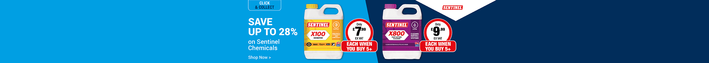 Save up to 28% Sentinel Chemicals