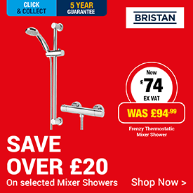 Save over £20 on Selected Mixer Shower
