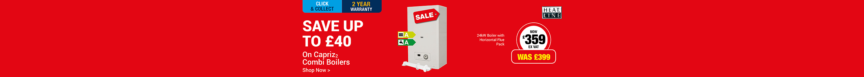Save £40 On Heatline Capriz2 Boilers