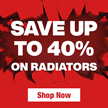 Save up to 40% on Radiators