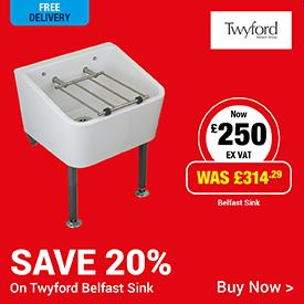 Save 20% on Twyford Belfast Sink