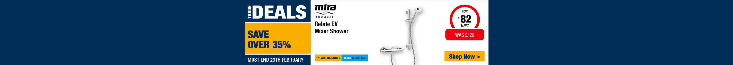 Save over 35% on Mira Relate EV Shower