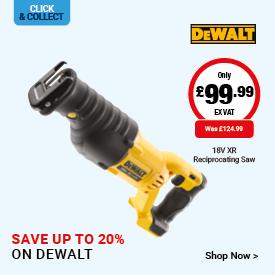 Save up to 20% on DeWalt