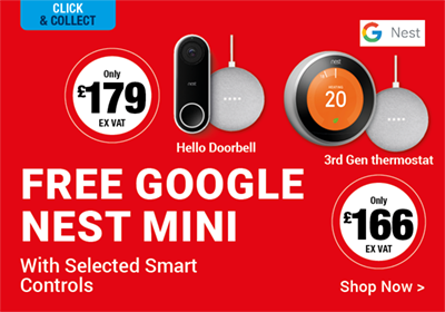 Free Google Nest Mini with Selected Smart Controls