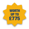 Worth up to £775