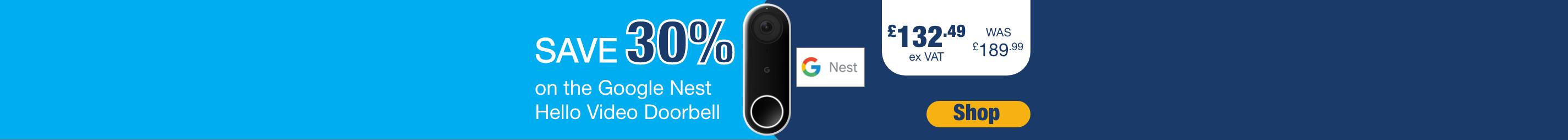 Save 30% on Google Nest Hello Video Doorbell